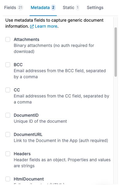 Extra fields are now Metadata fields