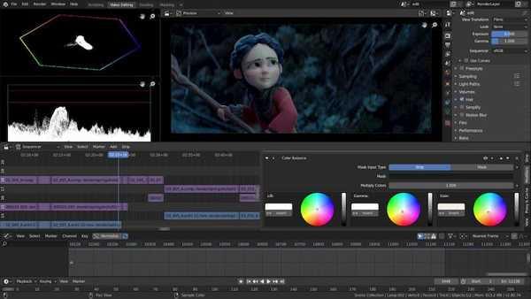 Blender open source video editing software