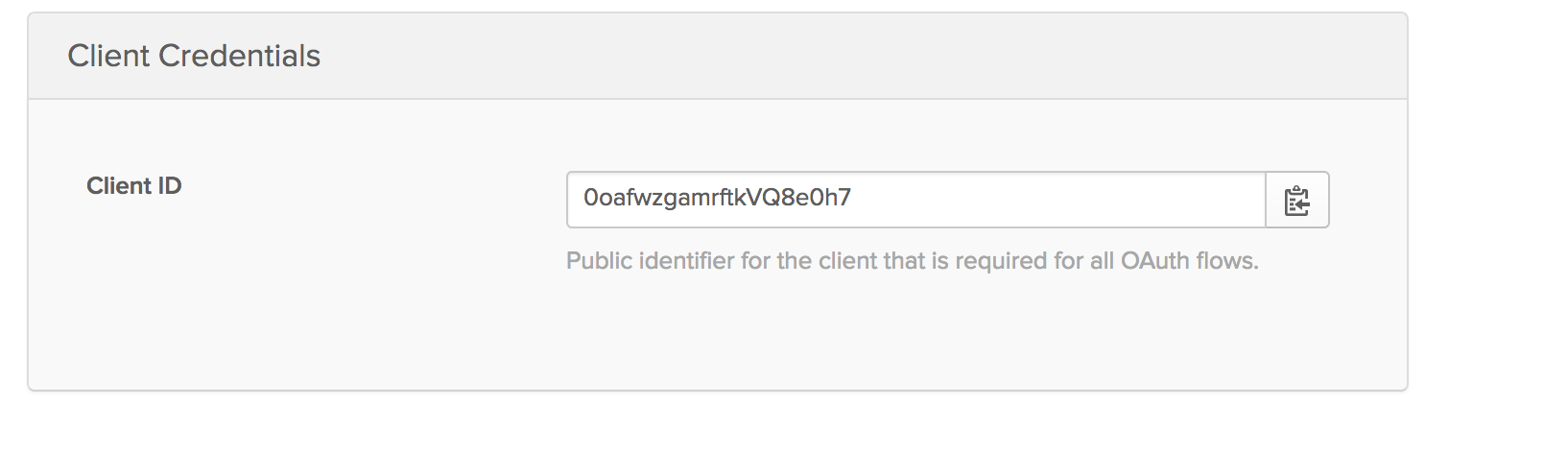 Okta client credentials