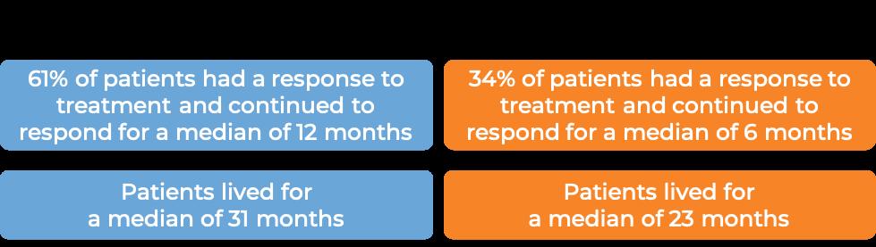 Results after Trastuzumab + Docetaxel vs. Docetaxel alone (diagram)