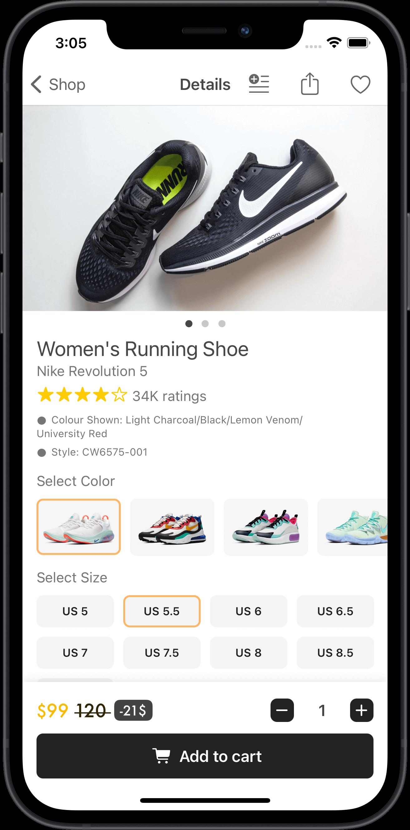 e-commerce, men, sneakers, apple