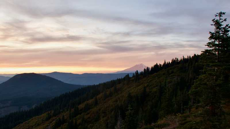 A view of Mt. Shasta at sunset