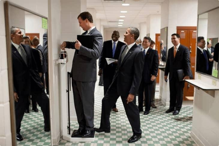 Obama pranking a person