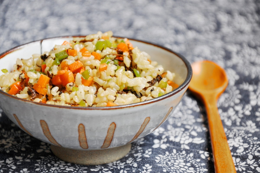 Fried Brown Rice with Meicai