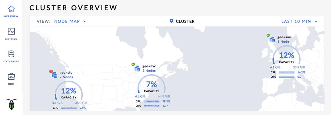 global cluster in cockroachdb