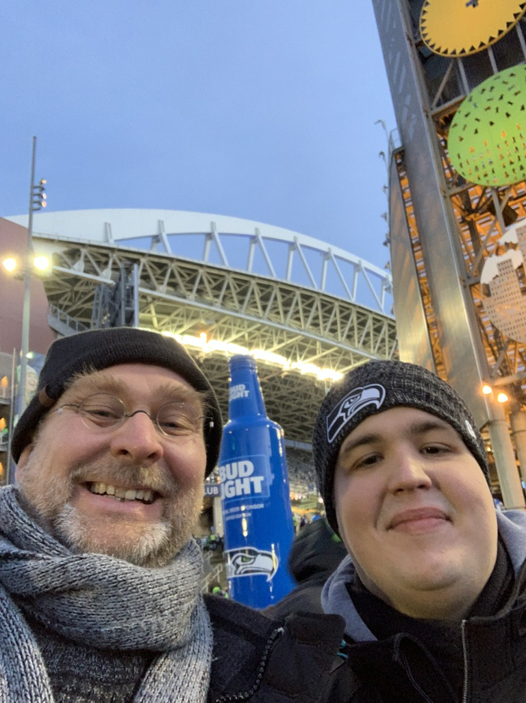 Seahawks with Niclas and Peter