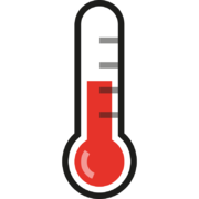 half full thermometer red