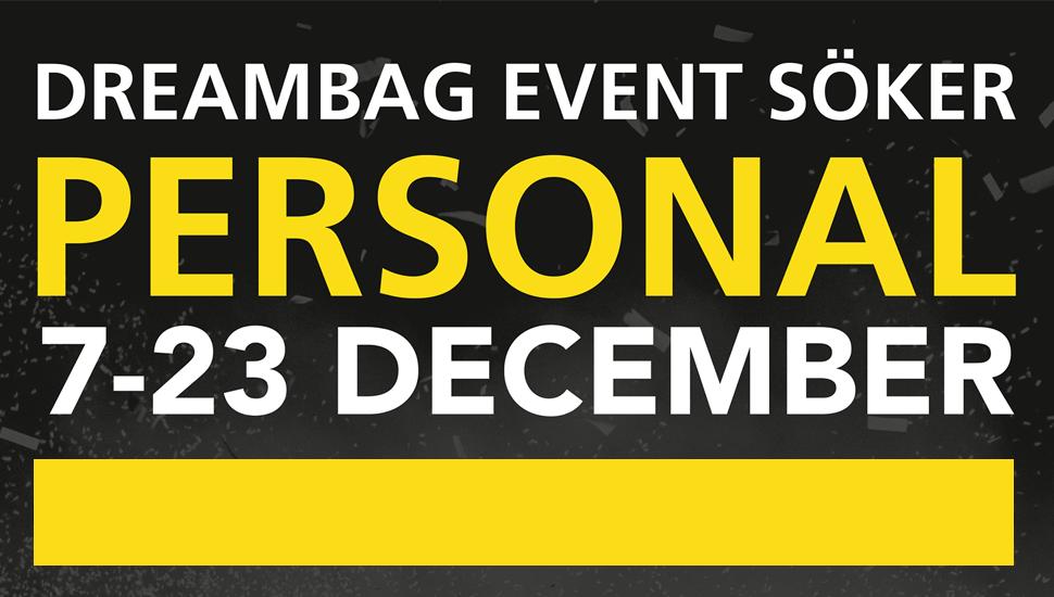 Dreambag Event söker julpersonal i Haparanda!