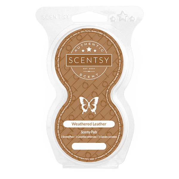 Weathered Leather Scentsy Pod Twin Pack