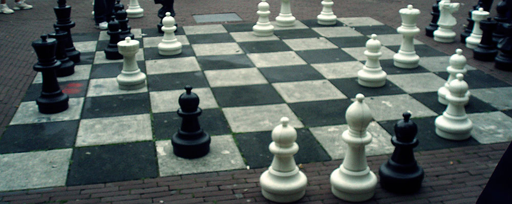 A life-size chess board in Amsterdam