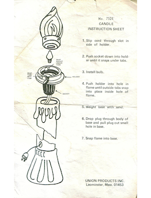 Union Products Candle #7524 Instruction Manual.pdf preview