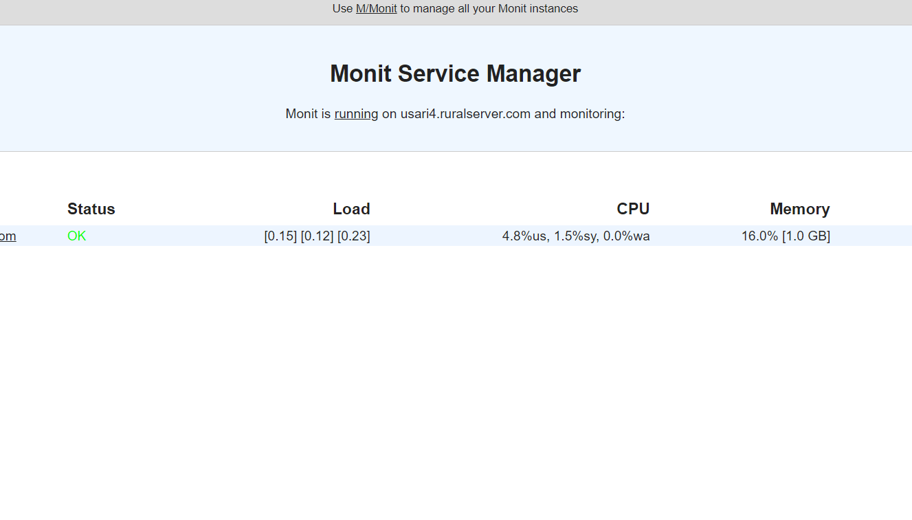 OpenLiteSpeed configure with monit to monitor