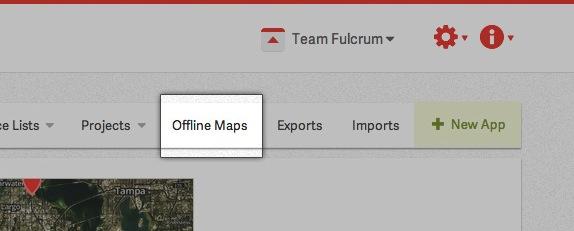 Upload offline map in Fulcrum