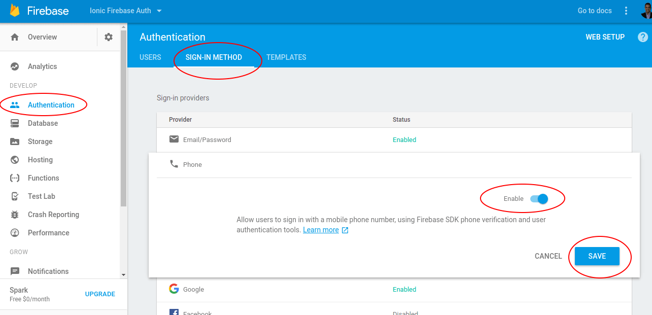 firebase phone number authentication