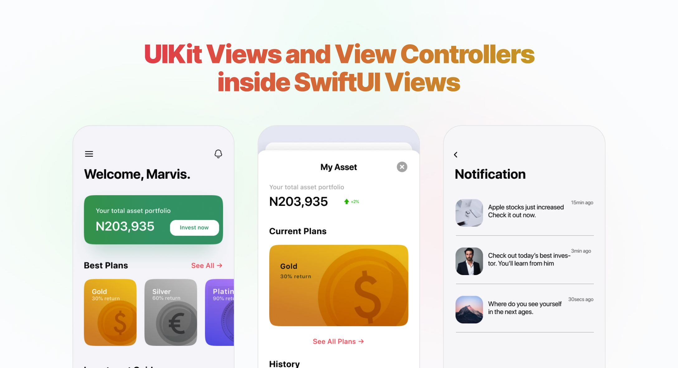 How to use UIKit Views and View Controllers inside SwiftUI Views