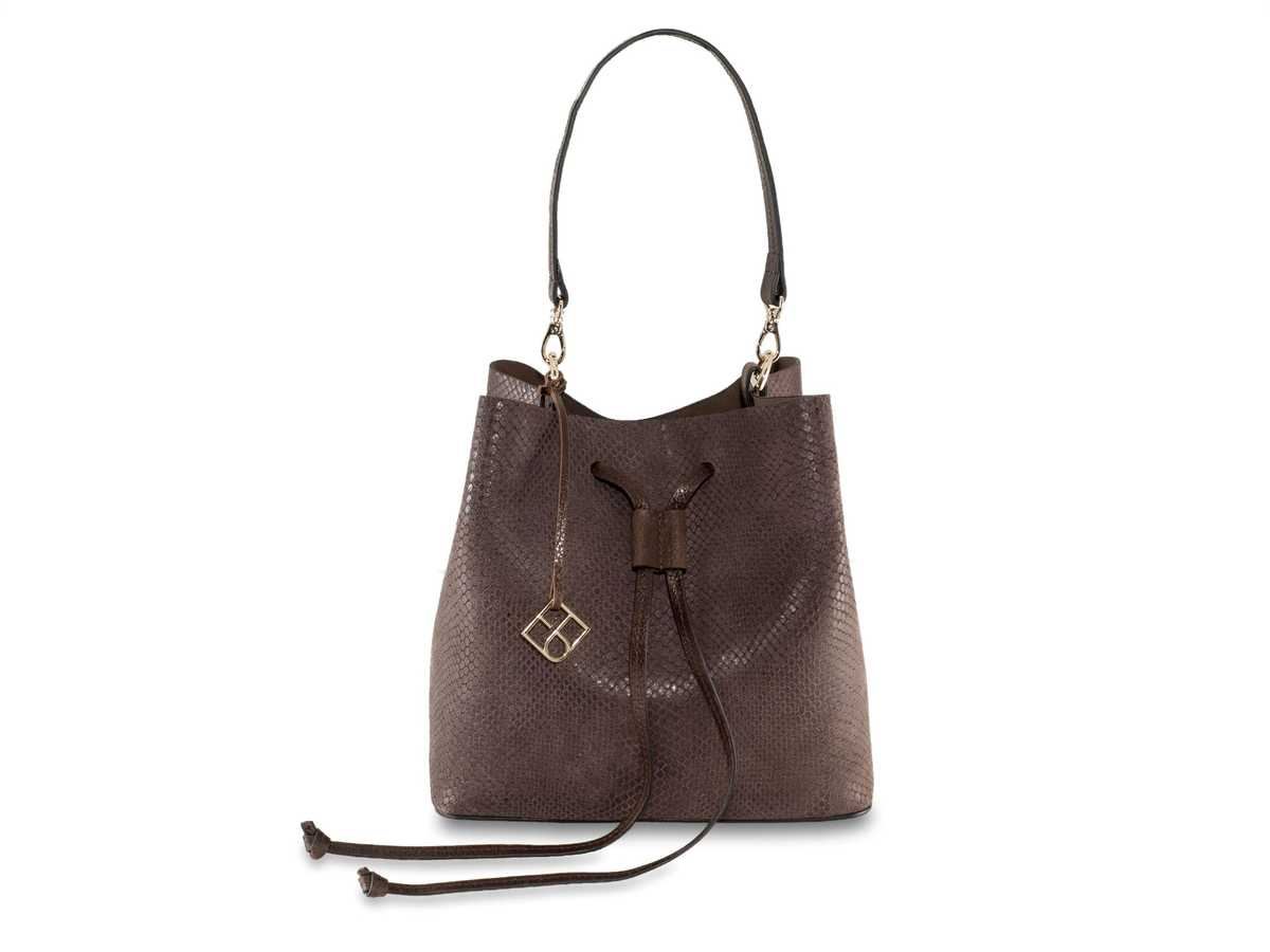 Alya Bucket Small - snake brown