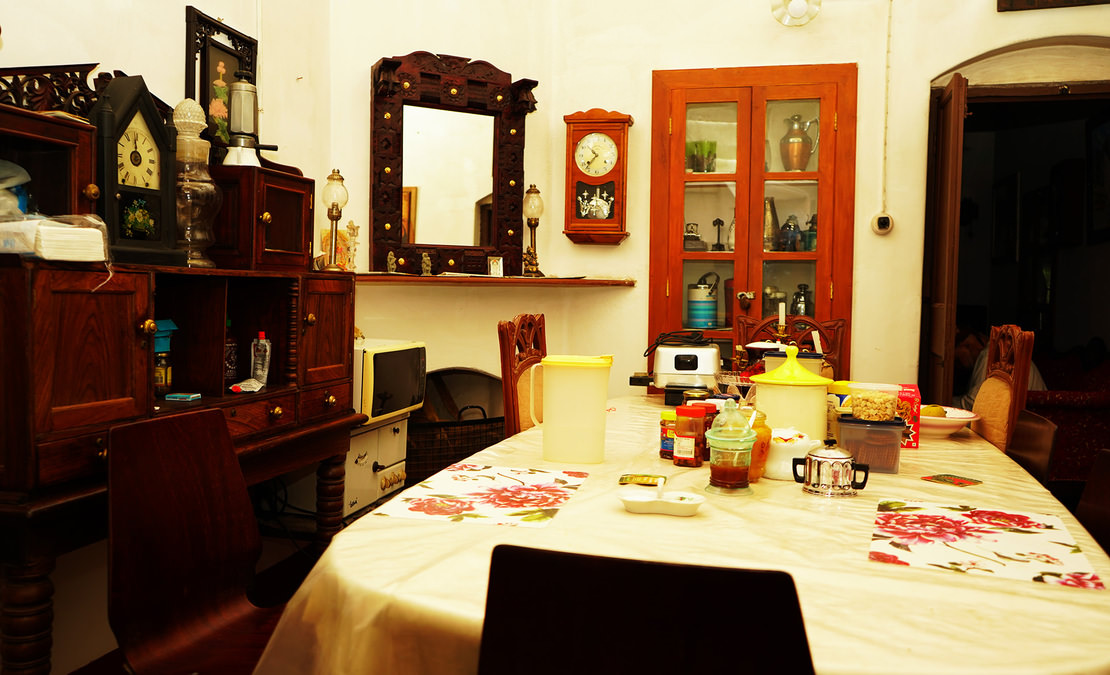 Dining room of the bungalow