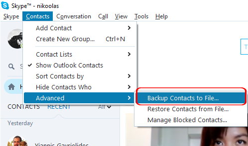 How to transfer contacts between Skype accounts - Covve