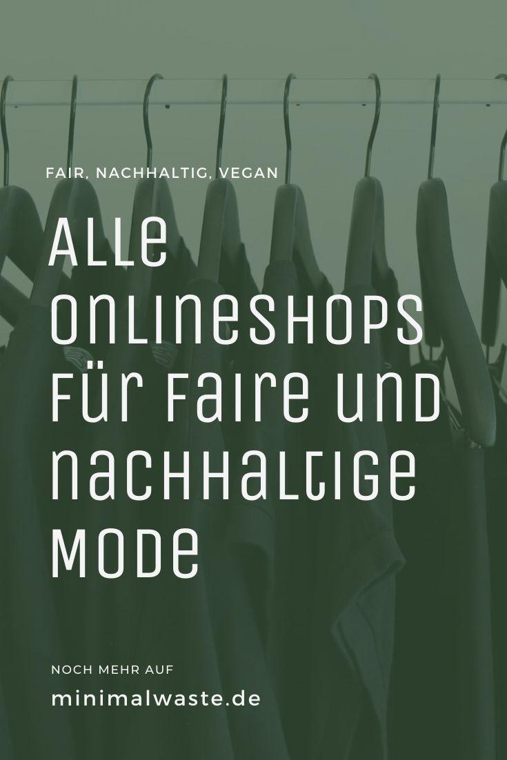 Pinterest Cover zu 'Alle Onlineshops für faire und nachhaltige Mode'