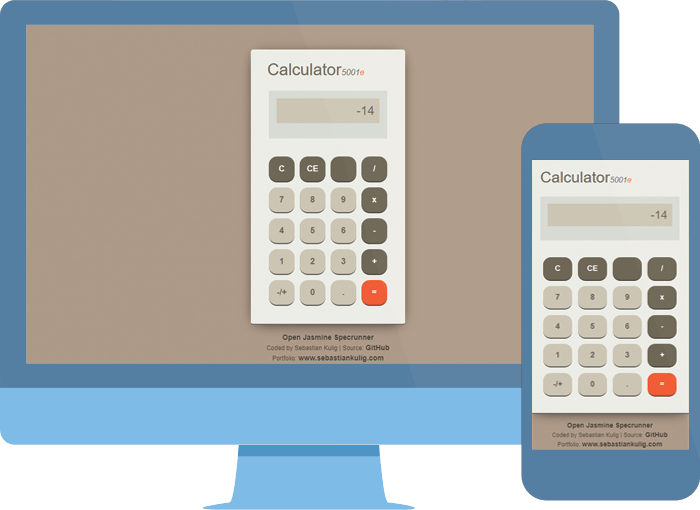 JavaScript Calculator - project | Sebastian Kulig - Full Stack Web