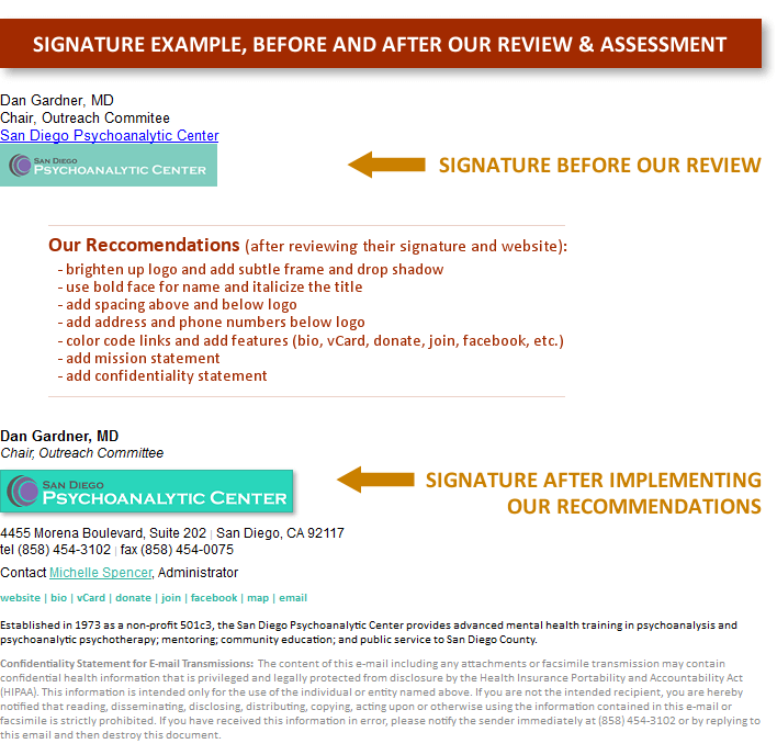 Email Signature - Before and After Review
