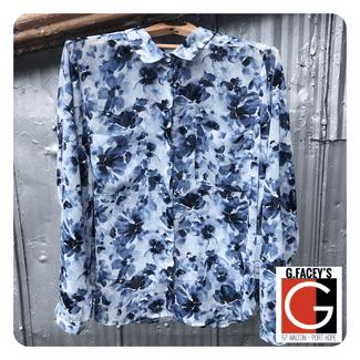 Point Zero Sheer Floral Shirt