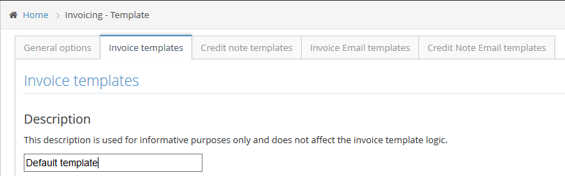 Invoicing Templates