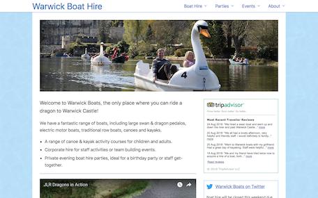 Warwick Boats home page