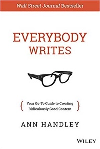The cover of Ann Handley's book, Everybody Writes