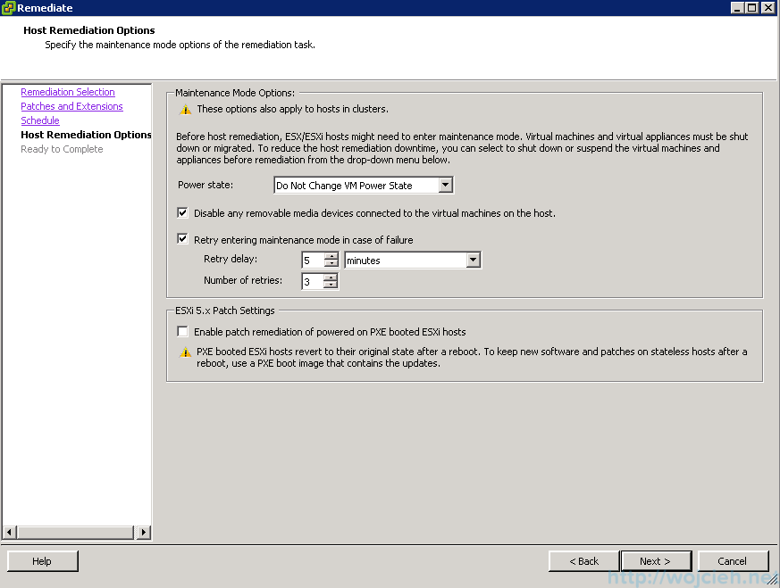 ESXi patching using VMware Update Manager 7