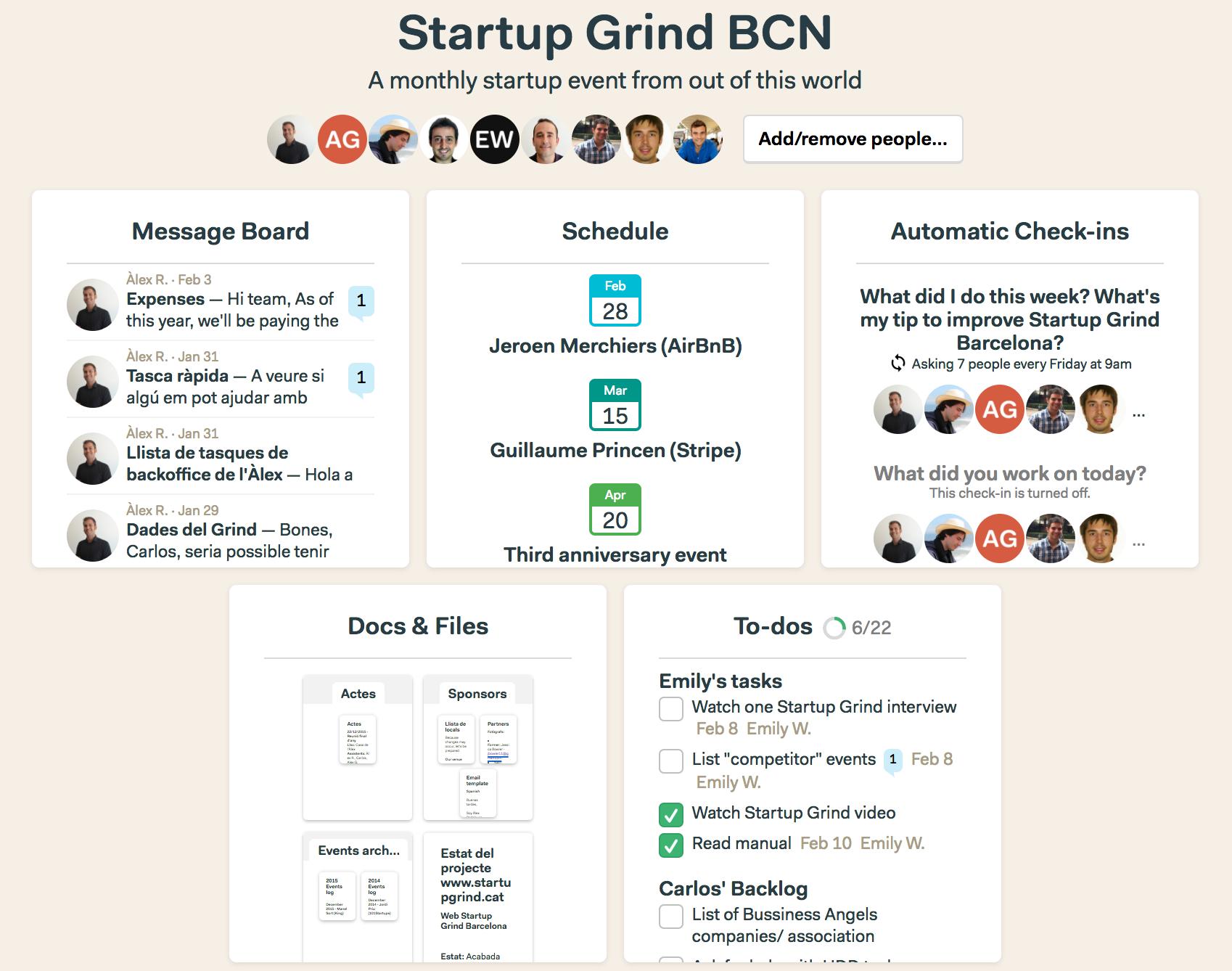 Internal Basecamp of Startup Grind BCN