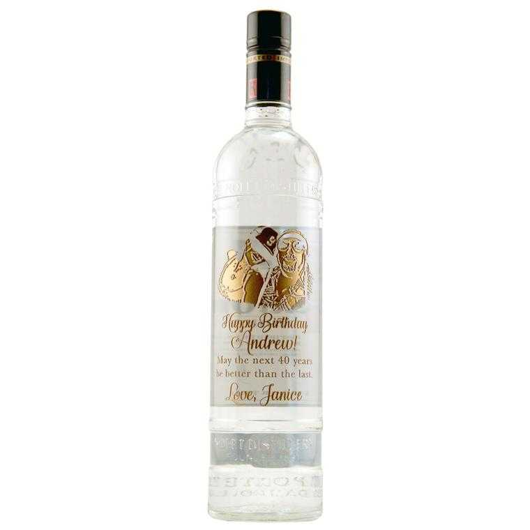 Personalized Vodka Bottle