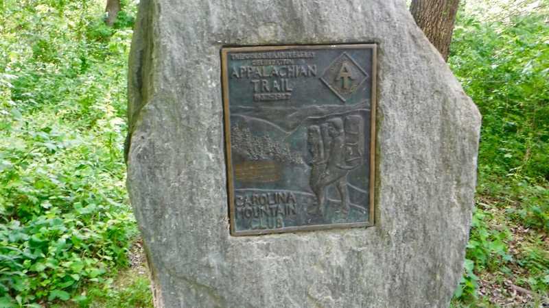 Trail marker near Hot Springs