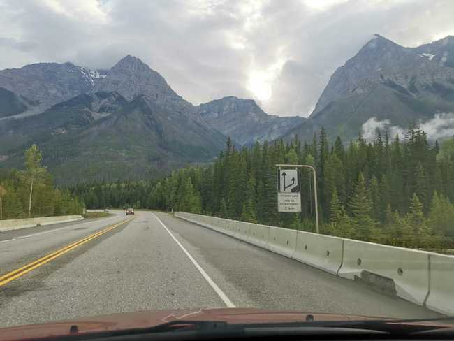 Route vers Lake Louise