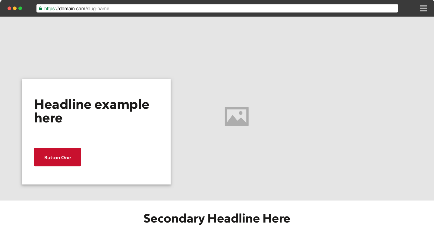 Webpage with a Rocket Red primary button.