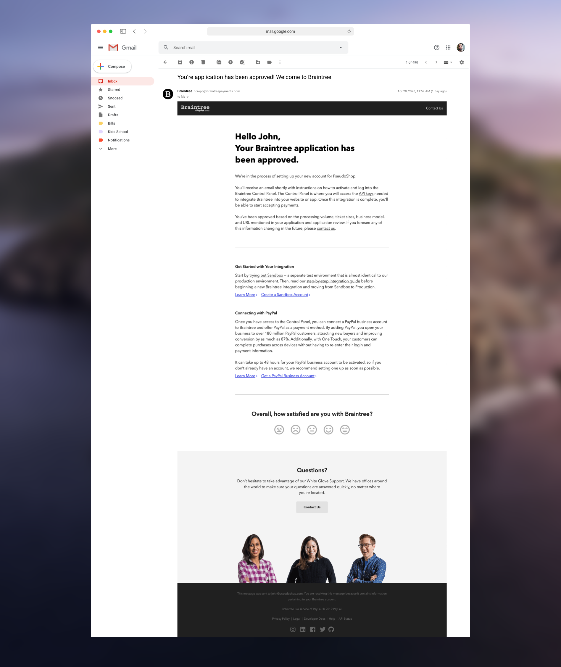 Braintree Email Template