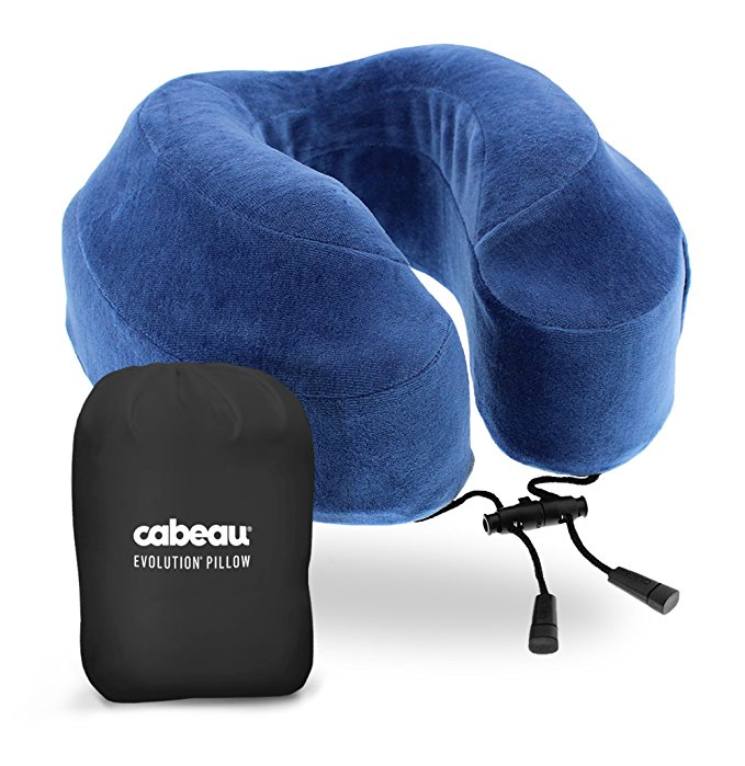 Blue Cabeau Travel Pillow
