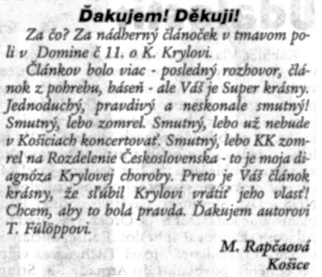 Domino efekt, č. 12, 19940325