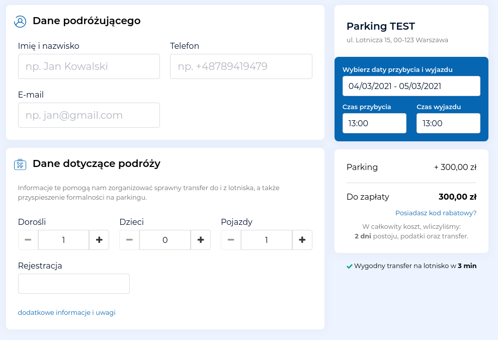 booking parking airport