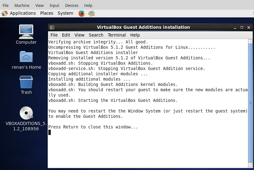 2016 12 11 centos vbox additions installed