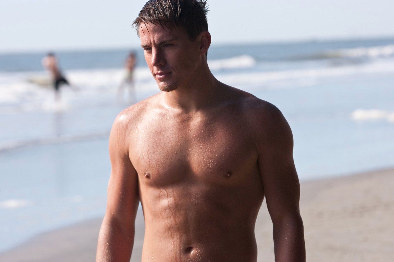 Channing Tatum at the beach