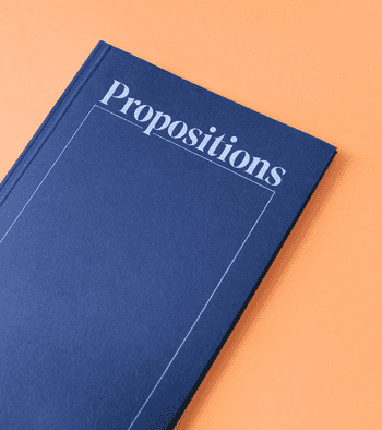 a photo of the book propositions by Amy McCauley