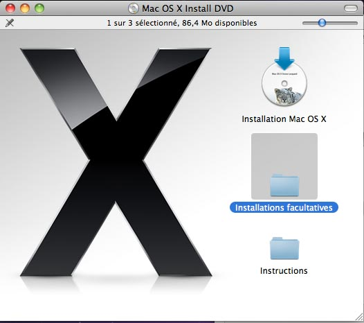 installer xcode a partir du cd mac os x