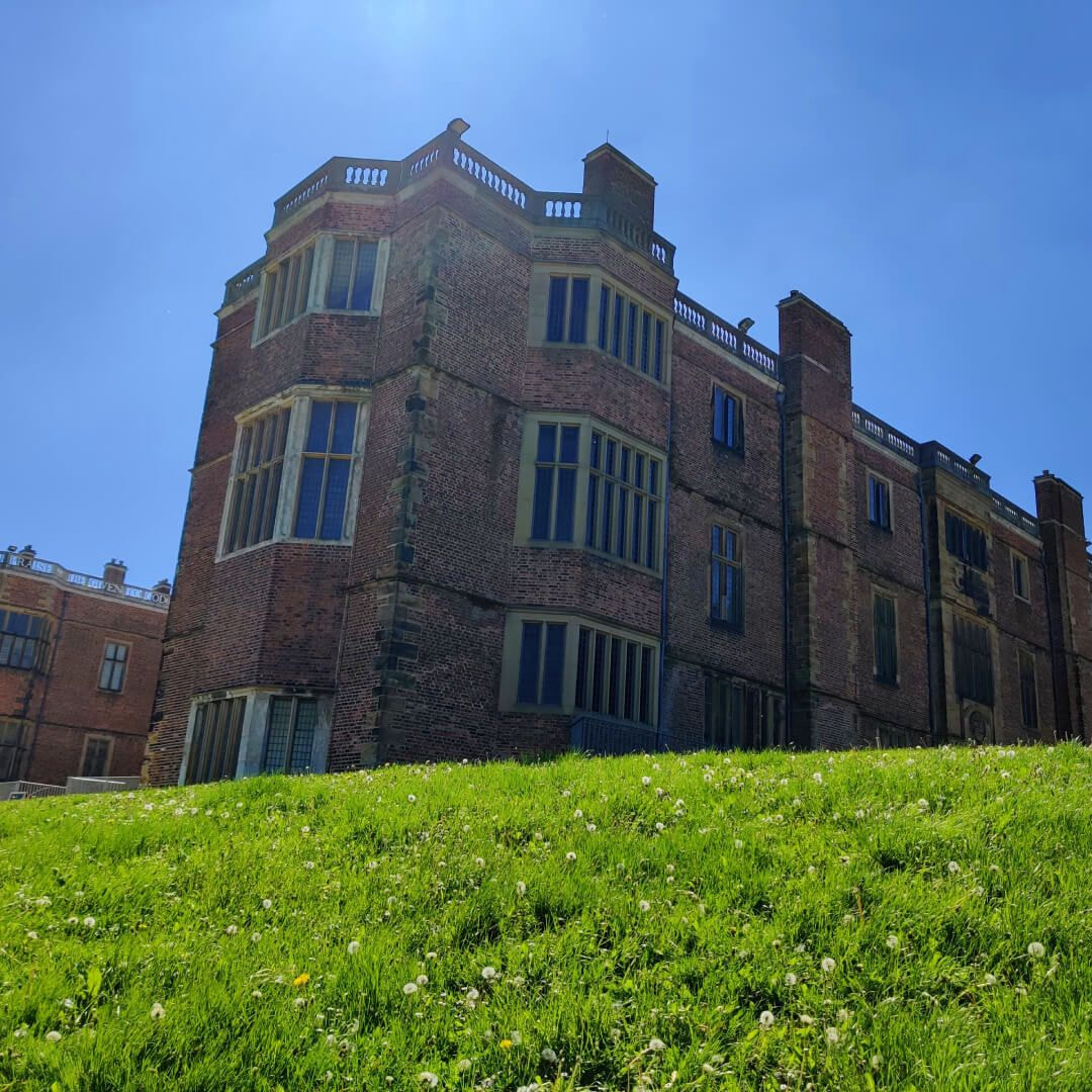 Temple Newsam house looking up from grass