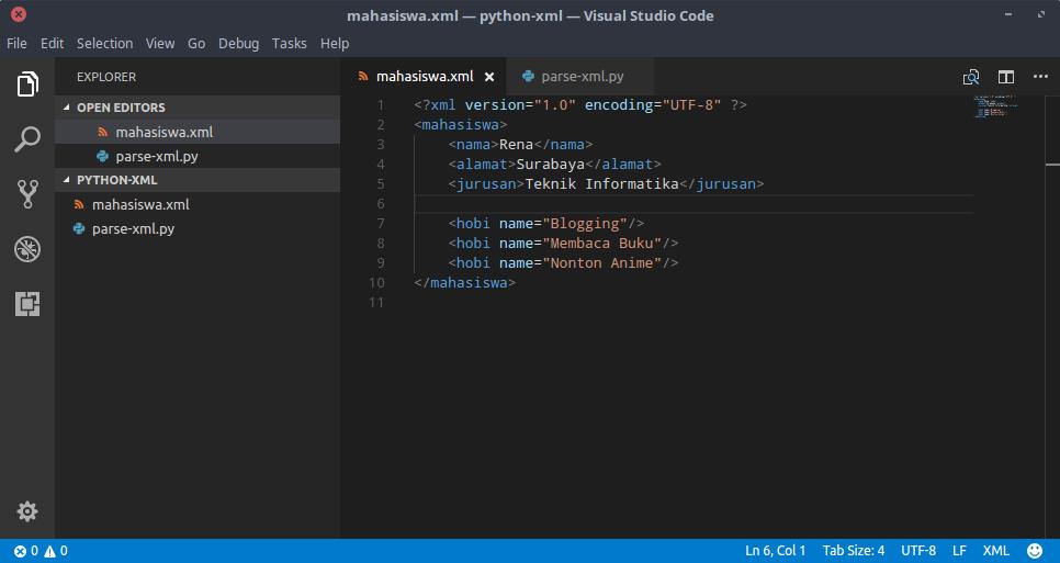 File XML dan Python