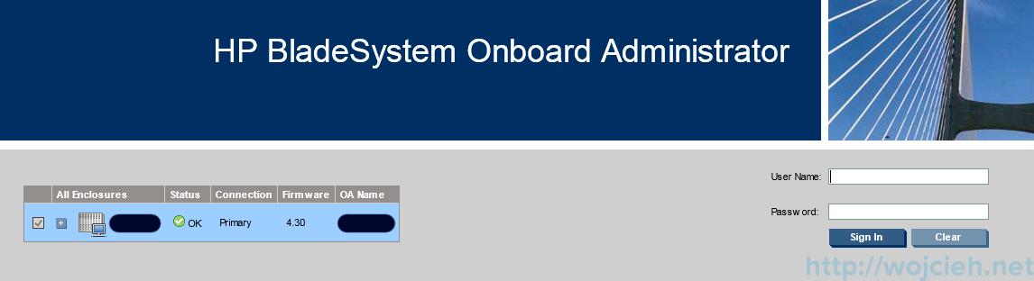 P c7000 Onboard Administrator firmware update 9