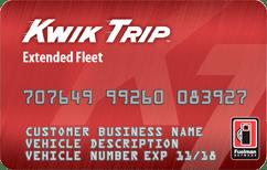 Kwik trip extended fleet card