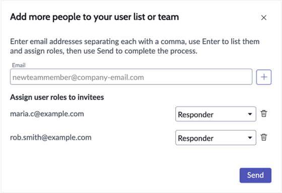 Invite users to join Incident Response.
