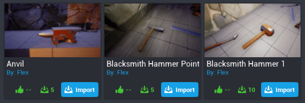 Community Content Blacksmith Items