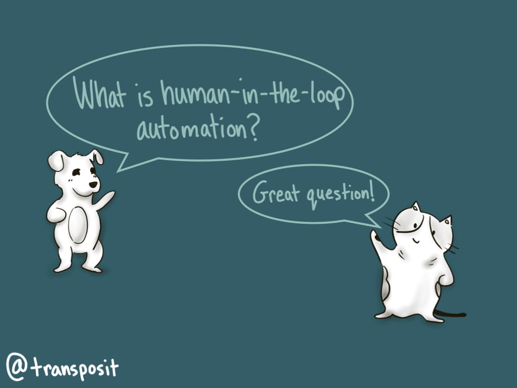 "Datadog: ""What is human-in-the-loop automation?"" DevOps Cat: ""Great question!"""